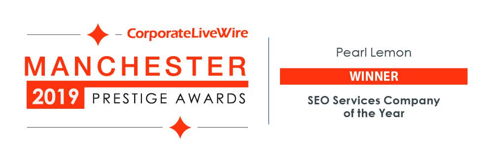 Manchester Prestige Awards - SEO Services Company of the Year