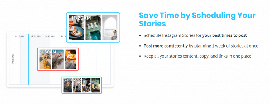 Later schedule your stories grow business on Instagram