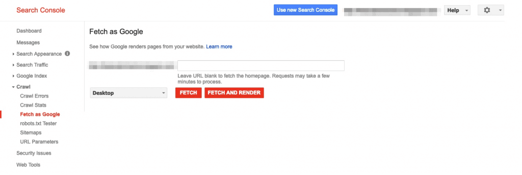 Technical SEO Service Fetch and render
