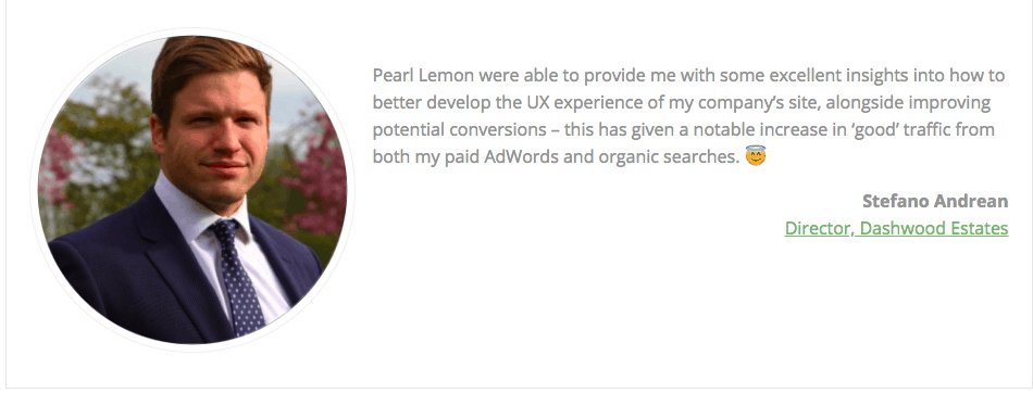 Positive feedback from Client for Pearl Lemon