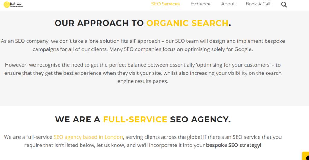 Organic Search SEO Services