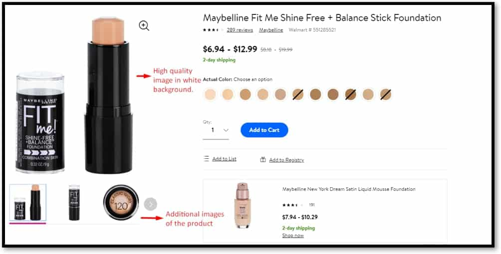 walmart product listing image quality
