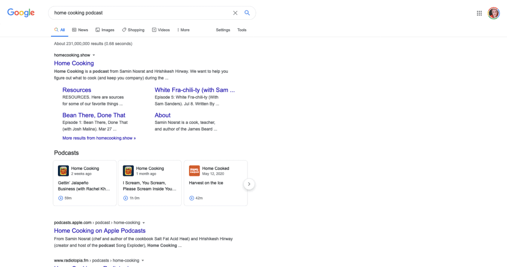 Google and Podcast Indexing