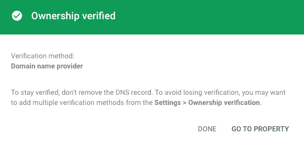 Start verification