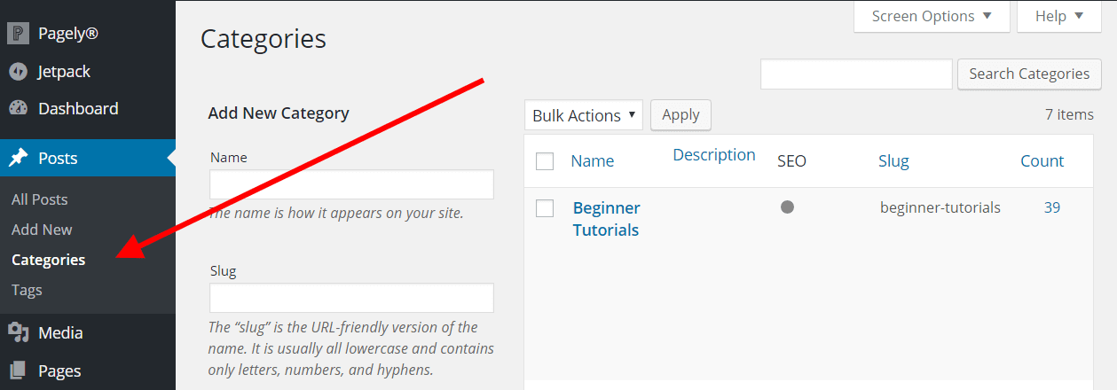 Manage Categories and Tags