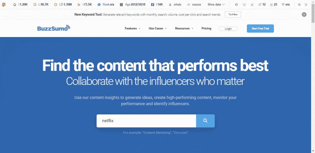 buzzsumo content growth hack
