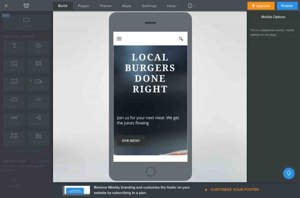 Weebly mobile SEO