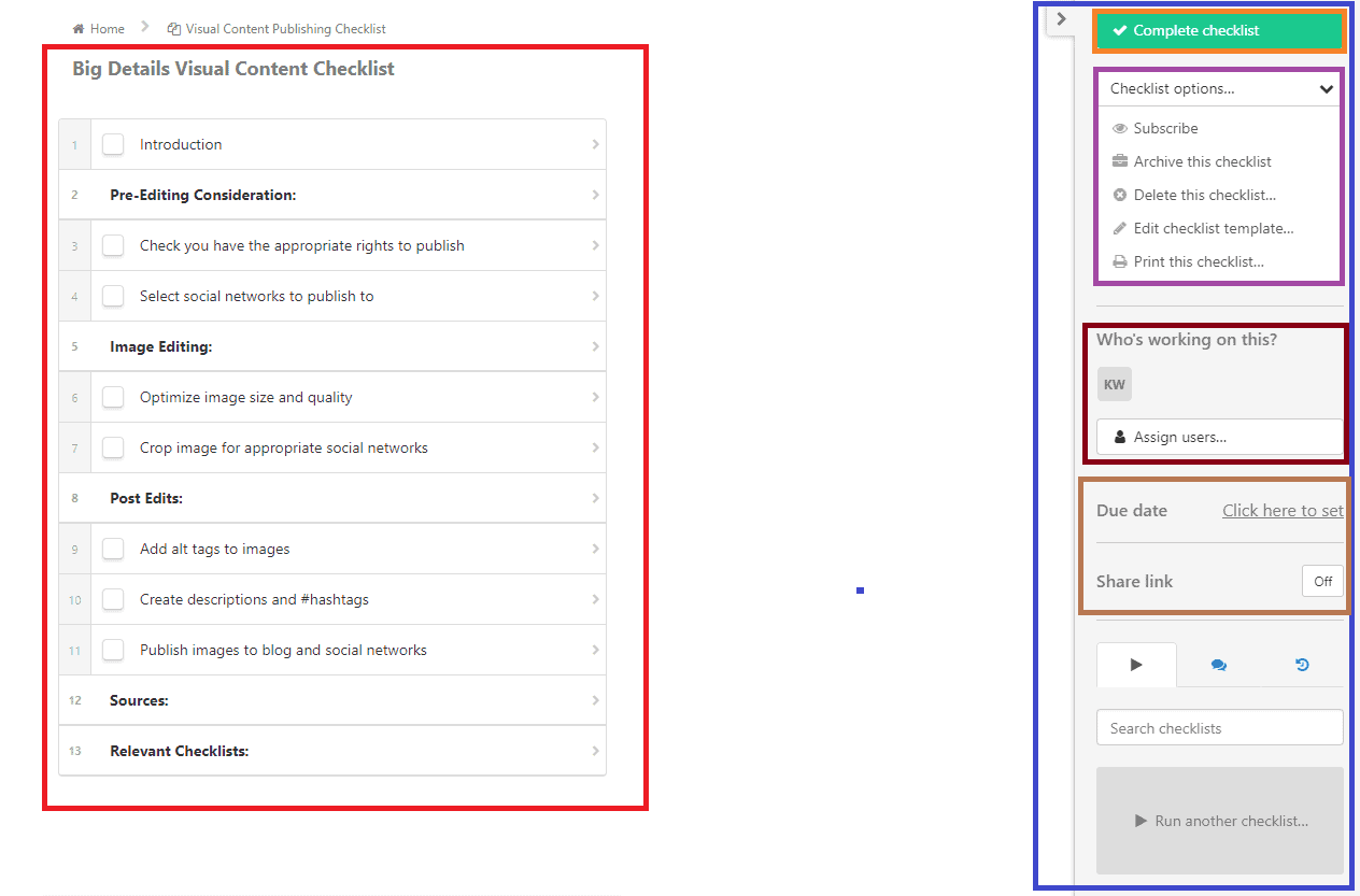 Process Street checklist