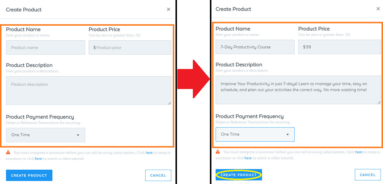 Create product