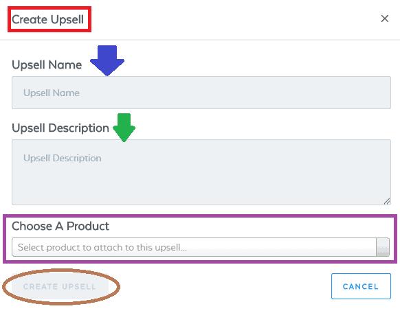 Create Upsell