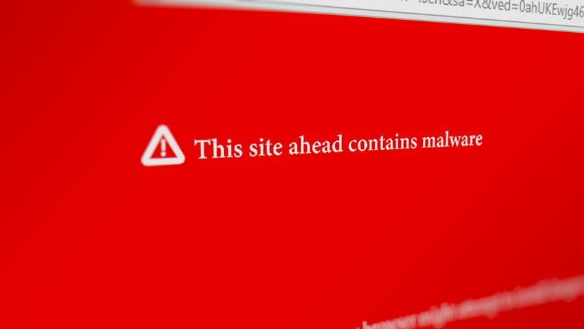 A Site Ahead Contains Malware error