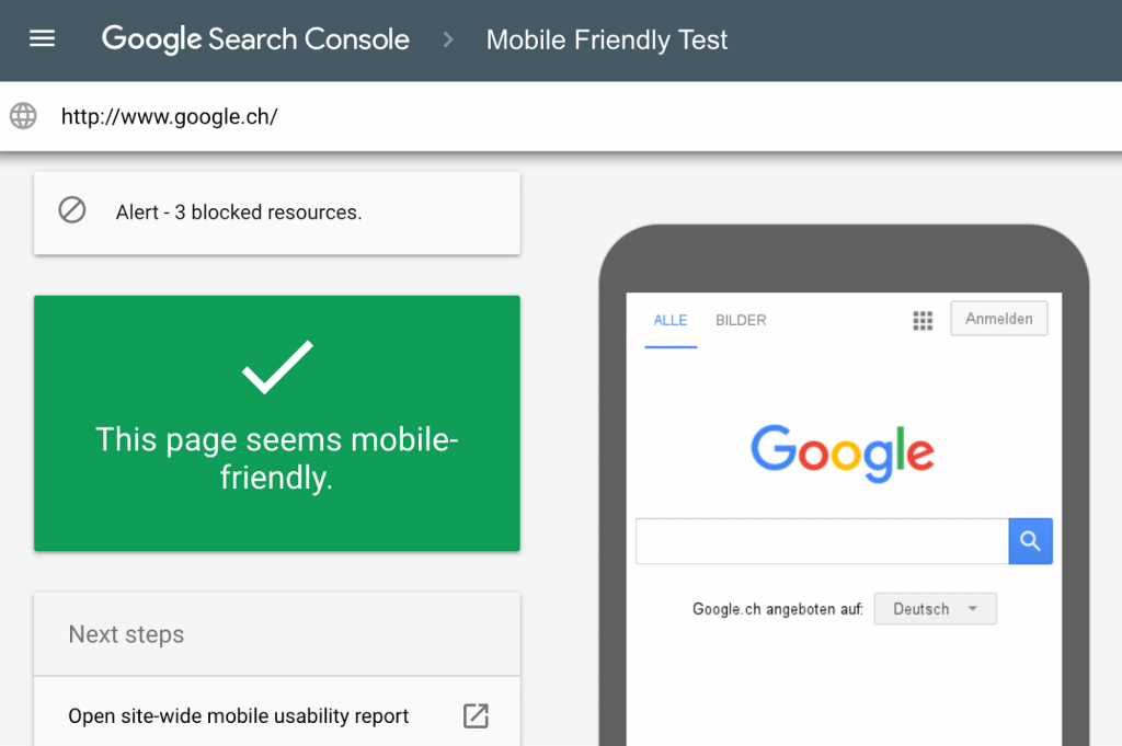 mobile first mobile friendly