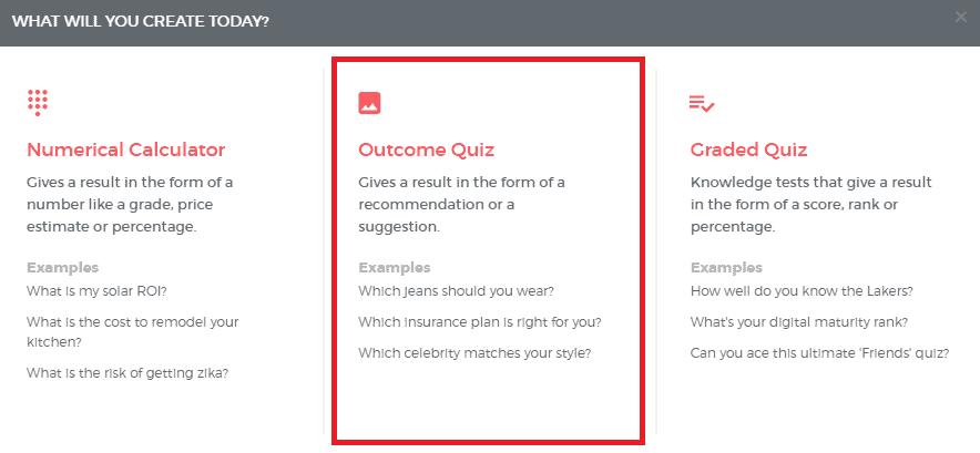 Outcome Quiz