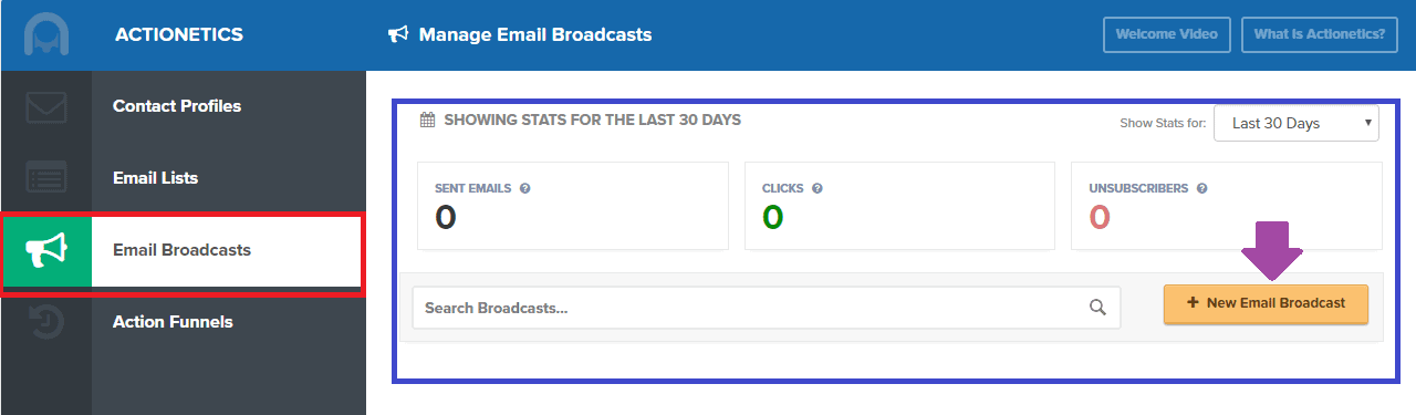 ClickFunnels Email Broadcast