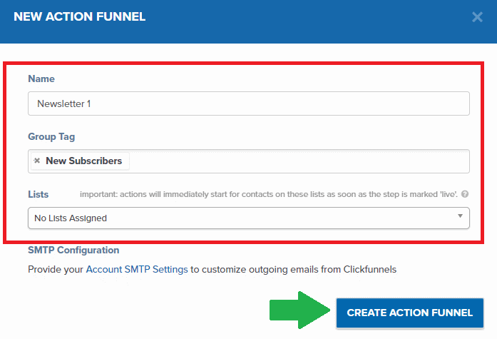 ClickFunnels Action funnel