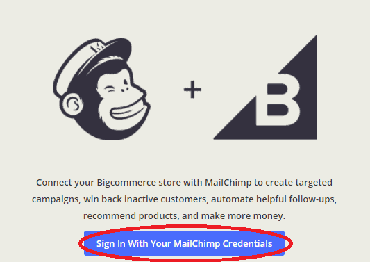 Sign in MailChimp