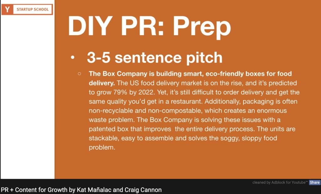 The Box Company 3-5 sentence PR pitch