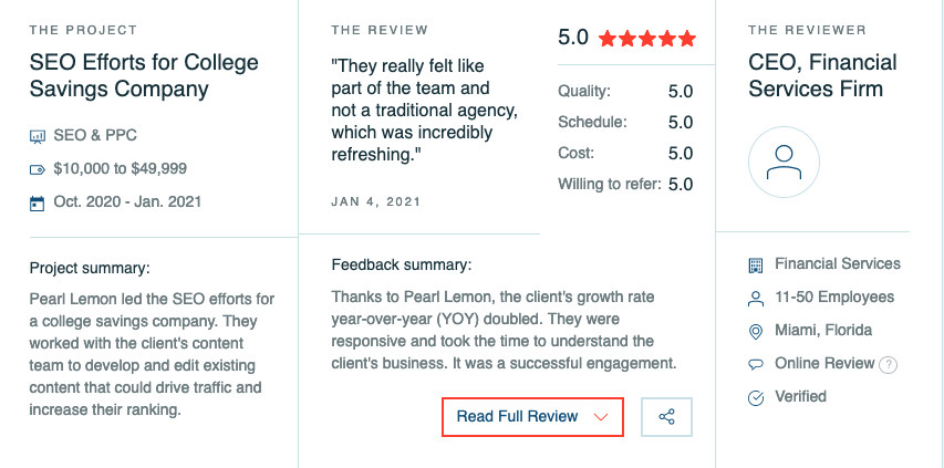 pearl lemon reviews clutch