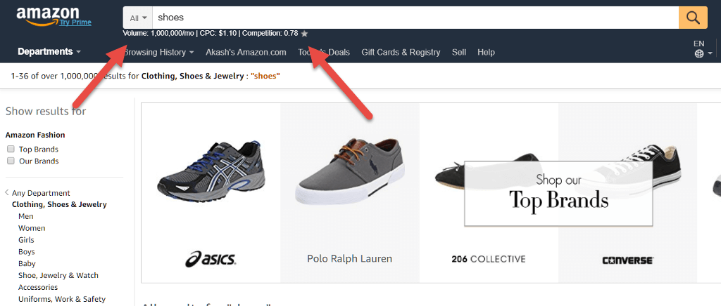 Amazon Shoes Result
