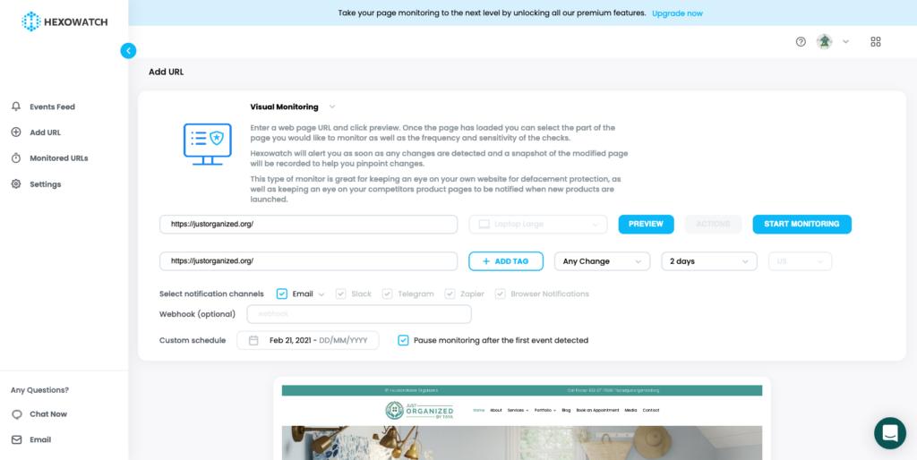 hexowatch dashboard URL