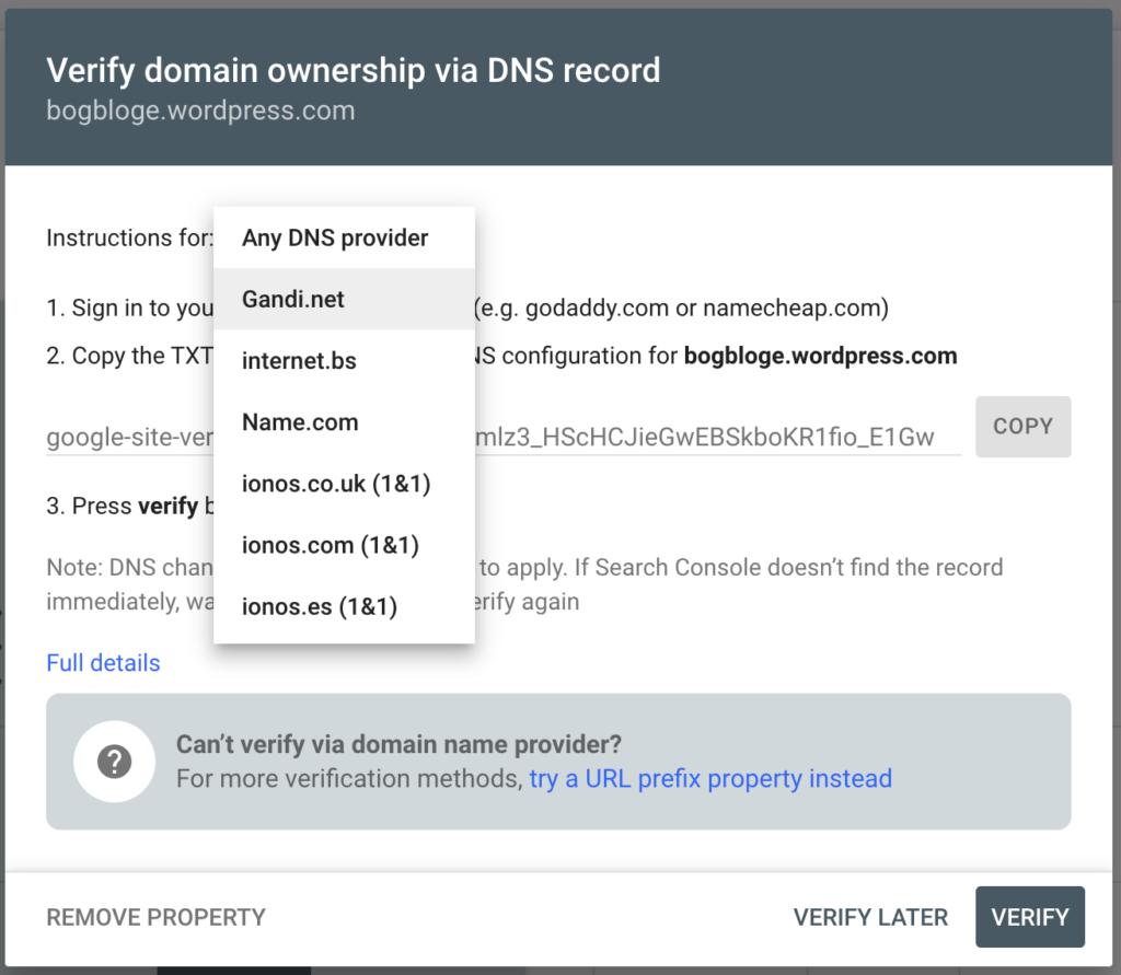 Domain Ownership