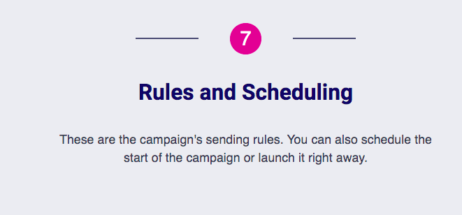 Rules and Scheduling
