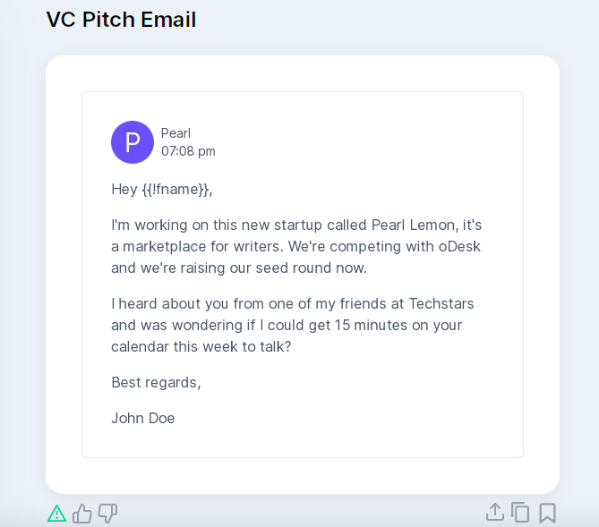 VC Email