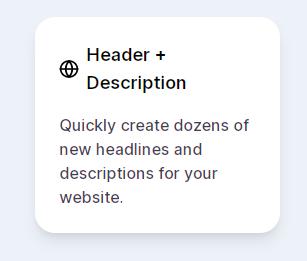 Header and Description