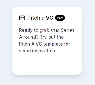 Pitch a VC