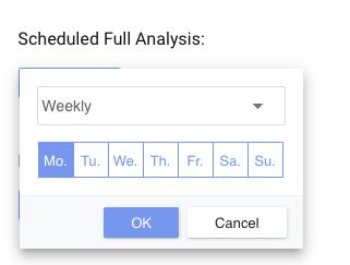 Schedule Full Analysis