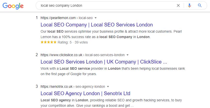 local seo company London
