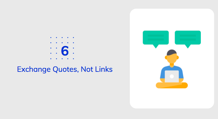 Exchange Quotes, Not Links