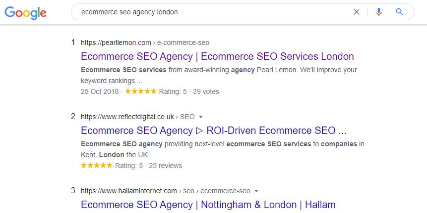 ecommerce seo agency london