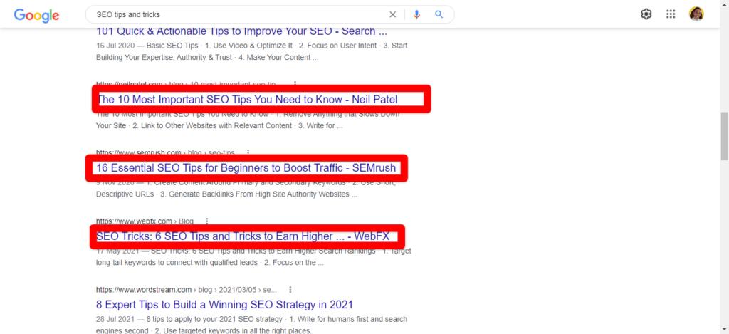 SEO title in WordPress