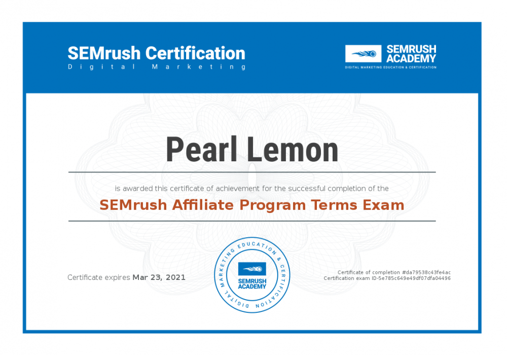 Certificate-affiliate-program-terms