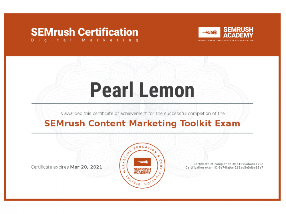 Certificate-content-marketing-toolkit-exam