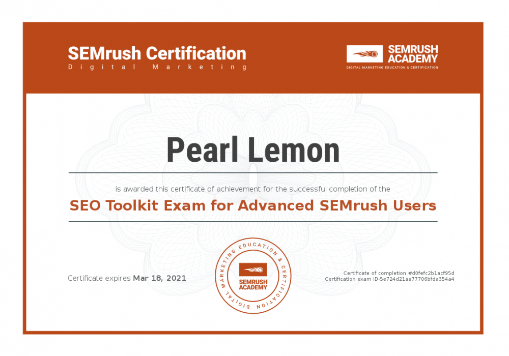 Certificate-seo-toolkit-exam-for-advanced