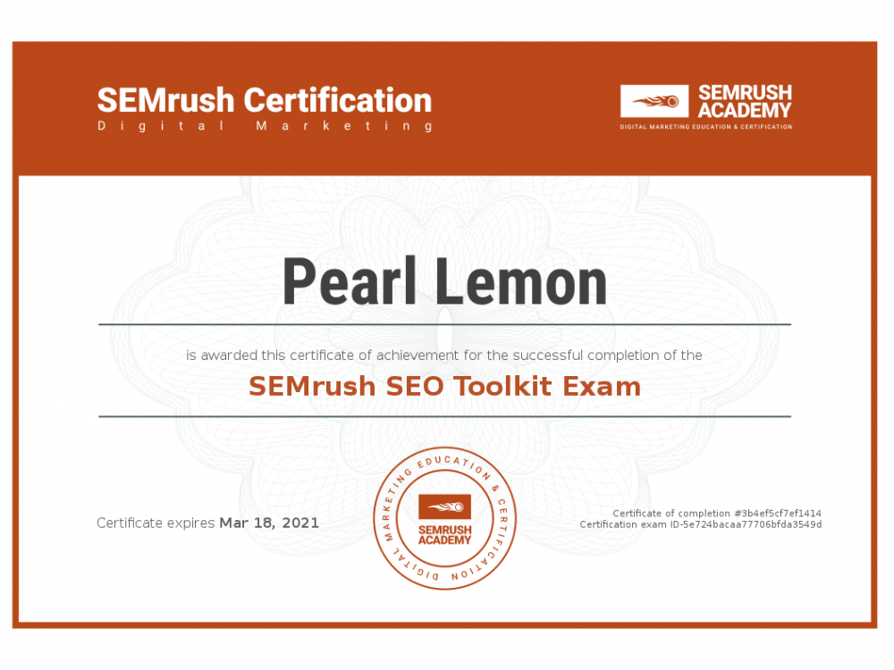 Certificate-seo-toolkit