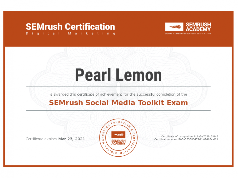 Certificate-social-media-toolkit