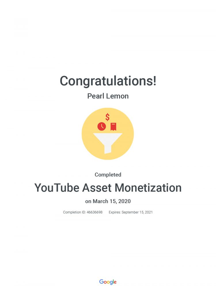 You Tube Asset Monetization