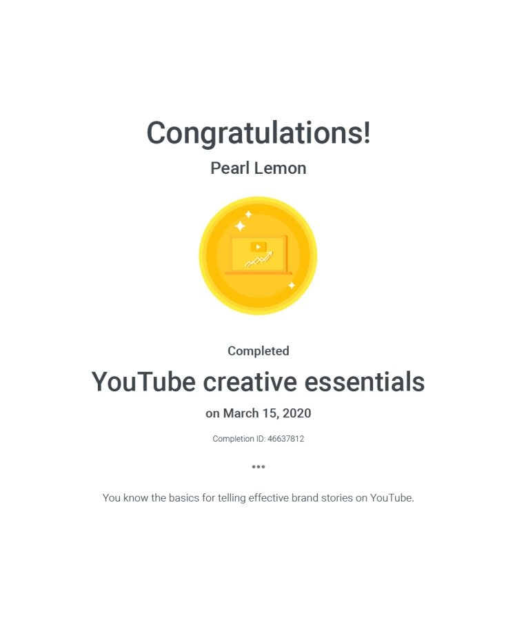 You Tube Creative Essentials